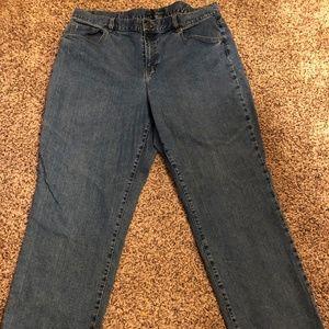 Ralph Lauren LRL Lauren Size 16W Blue Jeans Denim